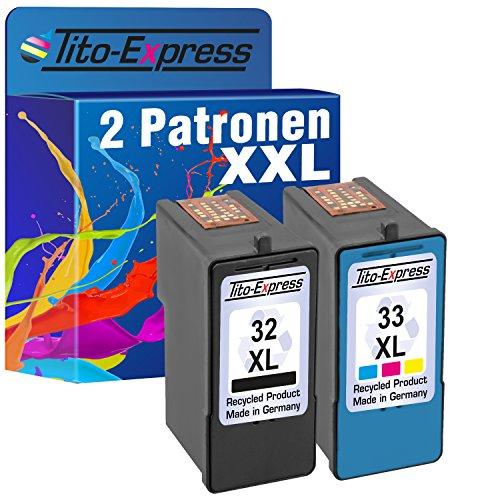 mSerie Set 2X Druckerpatrone für Lexmark 32 XL & 33 XL X5210 X5410 X5430 X5435 X5450 X5470 X7100 X71170 X7300 ()
