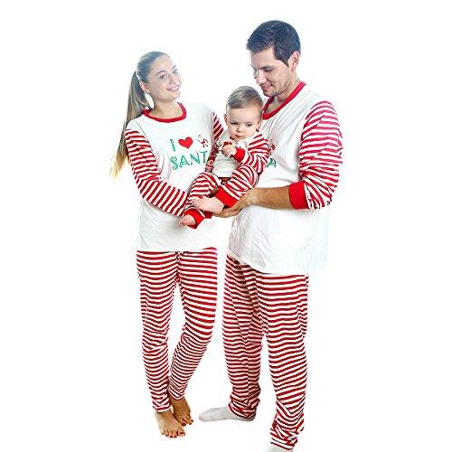 Baywell Pigiama Natale Famiglia,Pigiama per Natale in Cotone Due Pezzi Mamma papà Neonato Bambino Pajamas Set da Notte Sleepwear (Bambino, XL/6-7anni/120)