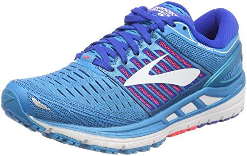 Brooks Damen Transcend 5 Laufschuhe, Blau (Blue/pink/White 1b474), 38.5 EU (Weite Damen Laufschuhe)