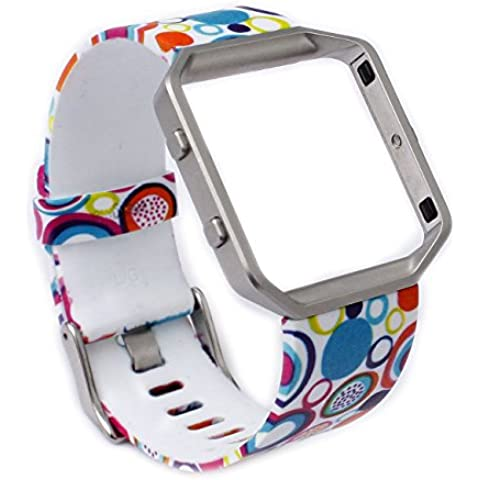 Greatfine Reloj de la Banda de Muñeca Reemplazo Pulsera Ajustable Correa para Fitbit Blaze (Circle)