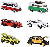 Dickie Majorette 212052011Vintage 2Pieces Set Viejo, vehículos en Miniatura, 2Unidades con Klas sischem y Moderno Modelo, Die-Cast, 3Varios. Modelos, 7, 5cm