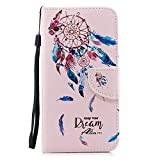 DENDICO iPhone 7 Plus / 8 Plus Case, Flip Wallet Leather Case Slim Book Cover for Apple iPhone 7 Plus / 8 Plus Magnetic Stand Protective Shockproof Case with Card Holder  Pink, DreamCatcher