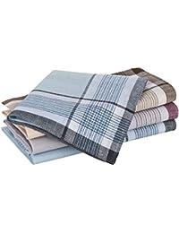 Tobeni 10 Herren Taschentücher Stofftaschentücher 100 gekämmte Baumwolle 40 x 40 cm