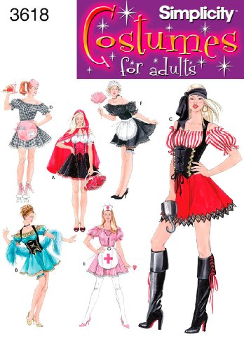 Simplicity Schnittmuster 3618 RR (Little Red Riding Hood Little Girl Kostüm)