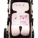 Baby Sitzauflage, Yuccer Atmungsaktive Sitzauflage Antiallergische Sommer Kinderwagen Sitzeinlage für Buggy Babyschale Autokindersitz, Verringert Schwitzen Ihres Kindes (Rosa)