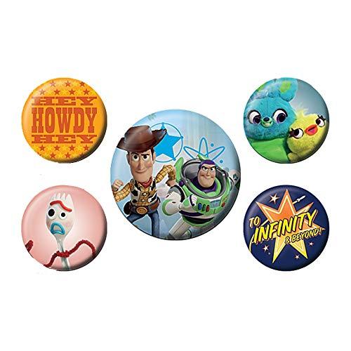 Echte Disney Pixar Toy Story 4 Freunde für das Leben 5 Stück Button Badge Set