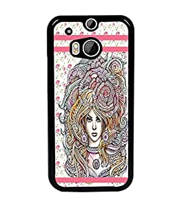 PrintDhaba Artwork D-3804 Back Case Cover for HTC ONE M8 (Multi-Coloured)