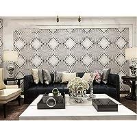 Estilo minimalista de lujo moderno estilo europeo papel tapiz 3D sala de estar TV TV decoración de la pared papel tapiz en relieve rollo 10 * 0.53m