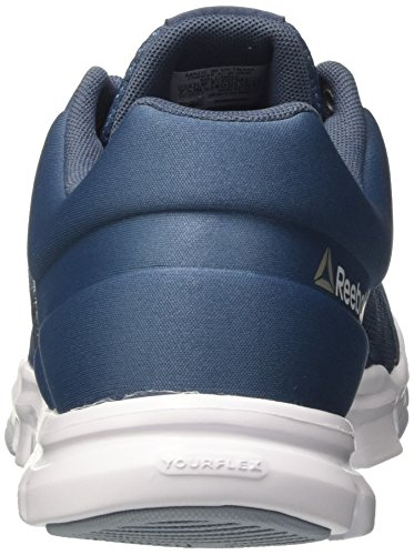 Reebok Herren Yourflex Train 9.0 Mt Hallenschuhe Blau (Brave Blue / Gable Grey / White / Pewter / Black / Grey)