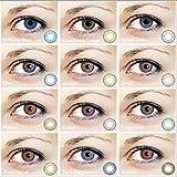 Farbige Kontaktlinse Weich Kosmetik Jahreslinse ohne Stärke 0.00 Dioptrien Sterlinggrau