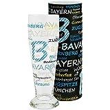 ebos Bavaria de cerveza de trigo, 0,5L, vidrio de cerveza, vasos de cerveza, cerveza de cristal, incluye caja regalos, apto para lavavajillas (: Bavaria de diseño)