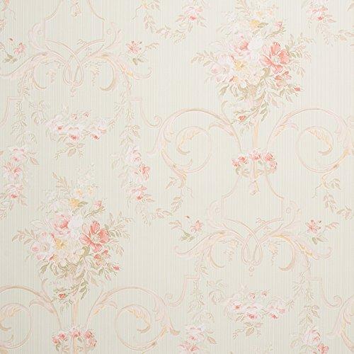 romosa Wallcoverings Cottage Floral Tapete, grün, Wallpaper -