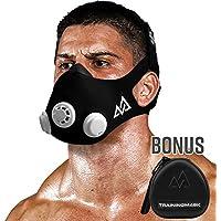 Training Mask 2.0[Original Schwarz Medium + Fall] Simulation Fitness Maske, Workout, Laufen Maske, Atmung Mask, Widerstand Maske, Maske, Cardio Maske, Endurance Maske für Fitness