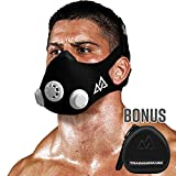 Training Mask 2.0 [Original Schwarz Medium + Fall] Simulation Fitness Maske, Workout, Laufen Maske, Atmung Mask, Widerstand Maske, Maske, Cardio Maske, Endurance Maske für Fitness