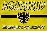 U24 Aufnäher Dortmund Nr. 1 aus dem Pott Fahne Flagge Aufbügler Patch 9 x 6 cm
