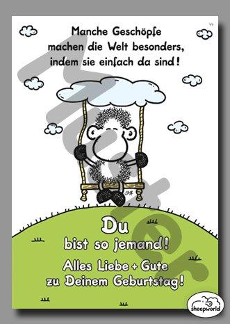 44 – Geburtstagskarte – Geschöpfe – Postkarte von Sheepworld
