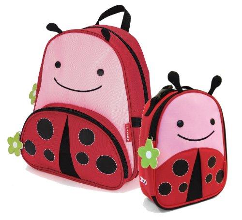 De saltar de los niños salto en inglés de mochila y de la juego de - de mariquita para niños de Lunchie incluyen bolsa de transporte