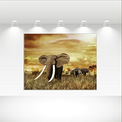 COCOL Tapicería de Paredes/alfombras / impresión de Elefantes decoración de Interiores paño...