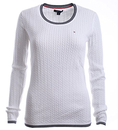 Tommy Hilfiger Cable Knit Pullover (Tommy Hilfiger Damen Pullover, Women's Cable Knit Sweater, Medium)