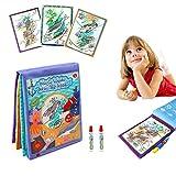 DQTYE Water Magic Doodle Books Aqua Disegno Tessuto Libro di Stoffa Riutilizzabile Pittura Gioco Pasticcio di apprendimento Libero Scribble Bordo Giocattolo educativo per i Bambini