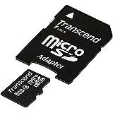 Transcend 8 Go Carte mémoire microSDHC Classe 4 avec adaptateur TS8GUSDHC4E [Emballage « Déballer sans s'énerver par Amazon »]