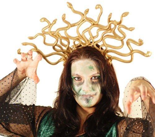 Halloween-Bühne-Tanz-Panto-Medusa KOPFSCHMUCK-Griechisch Mythologie Medusa SCHLANGE Kopfschmuck - Kostüm (Bühne Griechischen Kostüme)
