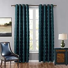 weare Home blanco Dibujo todos poliéster Modern Elegant Design Dormitorio Salón habitación Deko–Cortina Cortina térmica con ojales, tela, verde, B132×L241cm