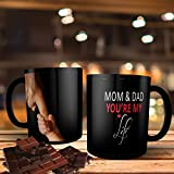 """Printpops: Gift For Dad, Gift For Mom, Fathers Day, Mothers Day, Birthday, Anniversary Gift With Beautifully Quote""""MOM & DAD You're My Life"""" 