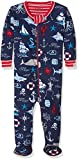 Hatley Baby Boys' Organic Cotton Footed Sleepsuit, Blue (Vintage Nautical), 0-3 Months