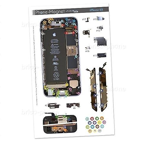 Patron magnétique d'aide au montage pas à pas pour iPhone 6S Ne perdez plus vos vis et les petits éléments lors des réparations. Produit exclusif