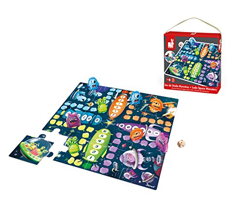 Janod - J02792 - Jeu Ludo Space Monsters