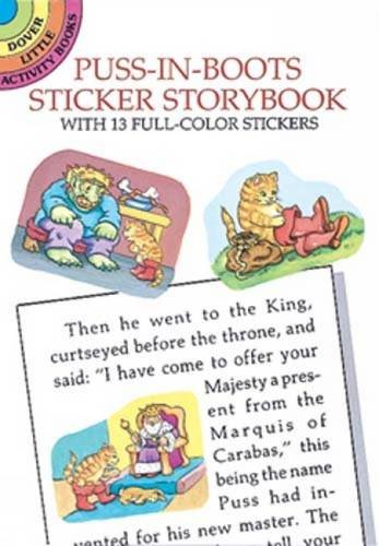 Puss-in-Boots Sticker Storybook (Dover Little Activity Books)