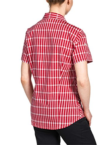 Jack Wolfskin, Camicetta Donna River Rosso (Indian Red Checks)