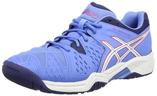 Asics Gel-resolution 6 Gs, Unisex-Erwachsene Tennisschuhe, Blau (powder Blue/white/hibiscus 4701), 38 EU