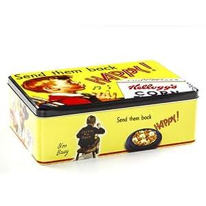 Boîte à sucre Kellogs - Métal rétro - Jaune
