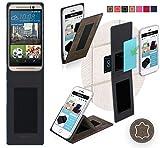 HTC One M9s Hülle in Braun Wildleder - innovative 4 in 1