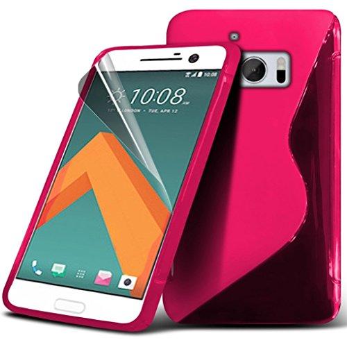 Samsung Galaxy J7 2016 étui ( noir ) couvercle pour Samsung Galaxy J7 2016 boîtier durable book style portefeuille en cuir polyuréthane élégant couvercle rabattable classique étui couverture de peau+  Wave Gel ( Hot Pink )