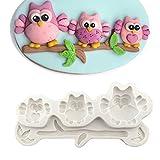 FOReverweihuajzde Lovely Cartoon Owl Fond Silikon Kuchenform DIY Rösten Zucker-Craft-Tool