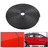Boonor – Protector de cantos de coche, en forma de U, 4m, 10mm x 7mm, goma de estanqueidad, perfil de goma, para casi toda clase de coches