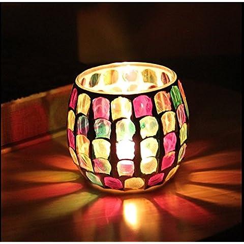 Continental candelieri in vetro di una cena