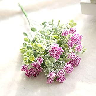 Liujiajiu Plantas Artificiales Flor Falsa Milan Camellia Floral Flor de la Boda Ramo de Flores de plástico para Costura Arte planeado