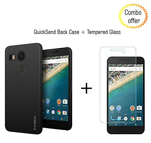 for LG Nexus 5X FOSO(TM) QuickSand Back Case - QuickSand (Rough) Phone Cover Shell