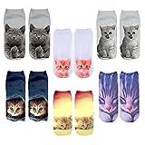 JT-Amigo 6er Pack Damen Socken Katze Motive