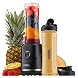 Cooks Professional Blender & Smoothie Maker with Two Bottles 250W Black Shakes On-The-Go