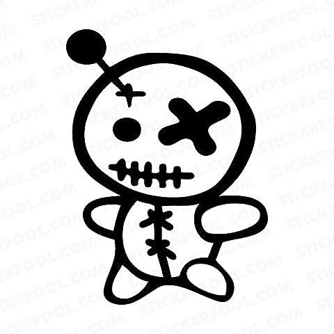 Voodoo Puppe Dekoration Cool Qualität und einzigartig–Halloween–Für fast alle Oberflächen–einfach anzubringen Wand Vinyl Aufkleber Spaß und Cool für DIY und Dekorationen ein tolles Geburtstagsgeschenk