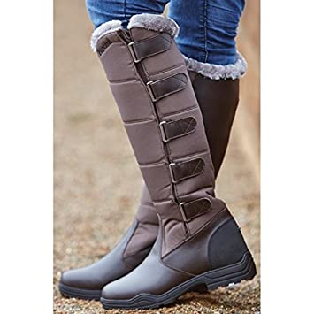 BROGINI FORTE WINTER LONG HORSE RIDING COUNTRY BOOTS BROWN FAUX ...