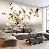 murando - Fototapete Blumen Orchidee 350x245 cm - Vlies Tapete - Moderne Wanddeko - Design Tapete - Wandtapete - Wand Dekoration - Blume Blitz Abstrakt Wasser b-C-0081-a-c