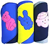 #10: BRANDONN Quick Dry 3PC Premium Quality Cotton Hooded Cute Baby Blanket Cum Wrapping Towel