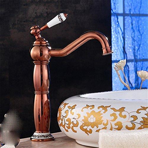 Antike Kupfer-zweig (Fy.Zck Antike Kupfer Wasserhahn Warmes Und Kaltes Waschbecken Wasserhahn Europäischen Retro Ethnischen Stil, Gold Zweig Jade Leaf Serie Rose Gold Uhr Abschnitt)