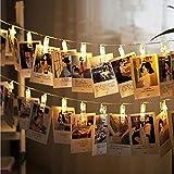 Lemonch LED Foto Clip Lichterketten, 40 Photo Clips 4.2M USB Stromversorgung Stimmungsbeleuchtung Dekoration, 40er LED Lichterkette Farbe Ideal für Vorschlagen, Festlich, Hochzeiten, Geburtstag, PARTY, NEW YEAR Dekoration, HÄUSER, Weihnachtsbaum Dekoration etc,Foto Memos, Kunstwerke, Farbe
